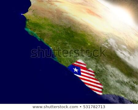 Libéria bandeira mapa país forma Foto stock © tony4urban
