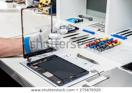 broken and repaired tablet screens stock photo © ozgur