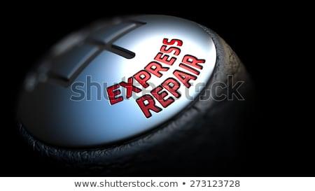 Gear Stick with Red Text Express Repair. Stock photo © tashatuvango