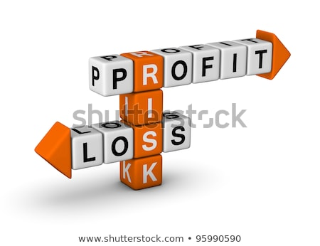 stock trading on yellow puzzle stock photo © tashatuvango