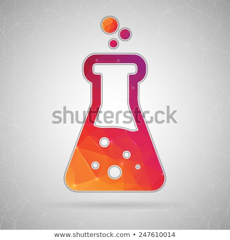 Flat sience icons Stock photo © vectorikart
