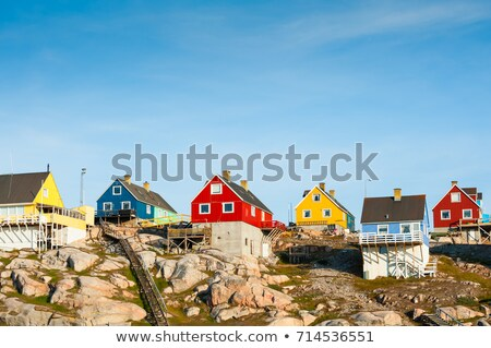 Colorful houses in Greenland Stock photo © mady70