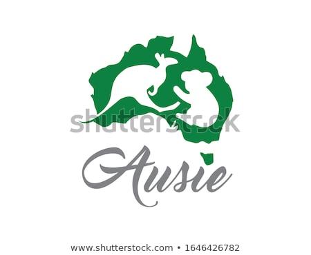kangaroo with Autralian flag Stock photo © adrenalina