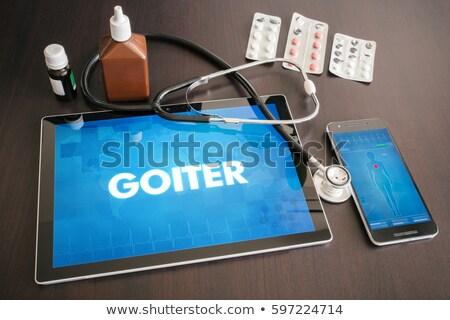 Göstermek tıbbi tablet tanı siyah stetoskop Stok fotoğraf © tashatuvango