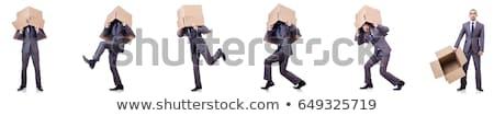 Zakenman dynamiet geïsoleerd witte business pak Stockfoto © Elnur