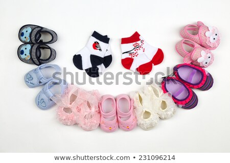 Children's shoes laid in a semicircle. Stock photo © RuslanOmega