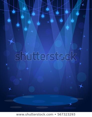Blue vintage stage Stock photo © alphaspirit