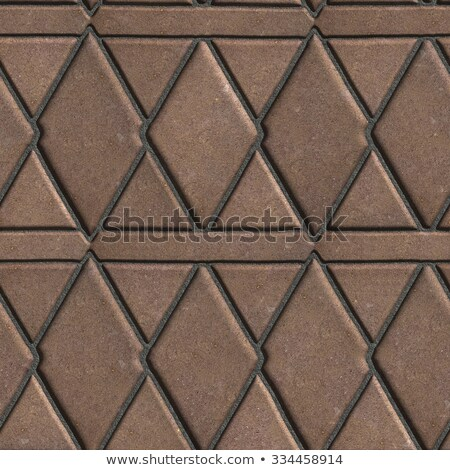 Brown Paving Slabs Built of Rhombuses and Rectangles.  Stock photo © tashatuvango