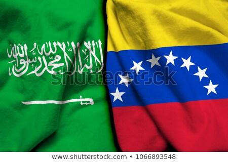 Arábia Saudita Venezuela bandeiras quebra-cabeça isolado branco Foto stock © Istanbul2009