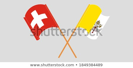 Switzerland and Holy See - Vatican City State Flags Stock photo © Istanbul2009