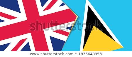 Великобритания святой флагами головоломки изолированный белый Сток-фото © Istanbul2009