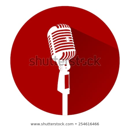 Mikrofon piros vektor ikon terv digitális Stock fotó © rizwanali3d