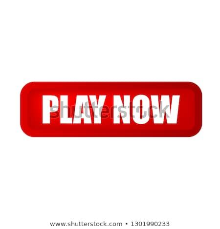 Játék most piros vektor ikon terv Stock fotó © rizwanali3d