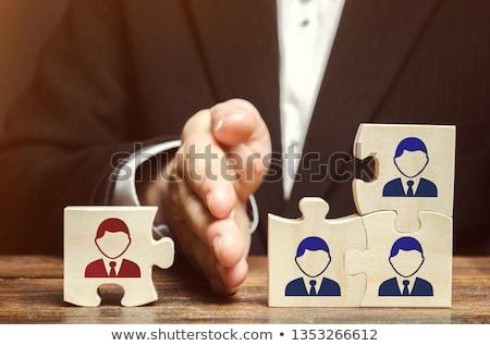 積極的な · 管理 · 小さな · 女性実業家 · 悲鳴 · 携帯電話 - ストックフォト © kentoh