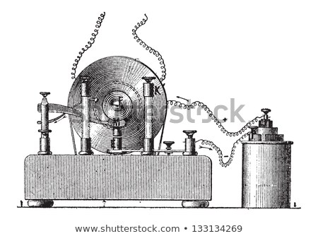 Electromagnetic Induction, vintage engraving Stock photo © Morphart