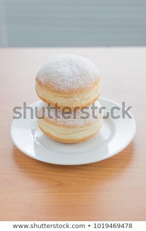 two donuts in powdered sugar Stock photo © PetrMalyshev