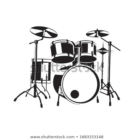 vector of drum set stock photo © morphart