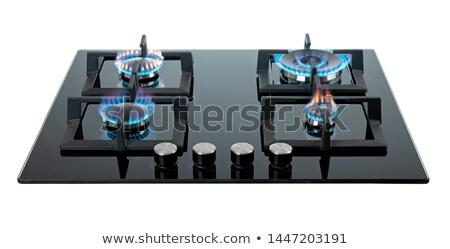 ガス · パン · 水 · 火災 · ホーム · 青 - ストックフォト © shutswis