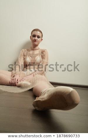 Bailarina piso balé classe mulher Foto stock © deandrobot