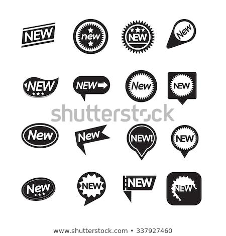 набор Этикетки новых икона сайт связи Сток-фото © kiddaikiddee