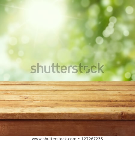 velho · mesa · de · madeira · borrão · luz · bokeh · vazio - foto stock © vapi