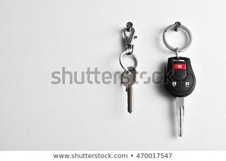家 · ドアの鍵 · 実例 · 青 · キー - ストックフォト © rastudio
