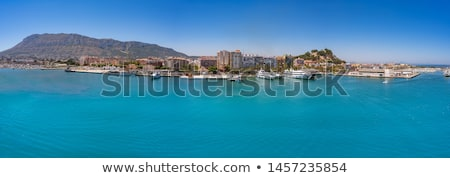 Denia marina Port and Montgo in Alicante at Spain Stock photo © lunamarina