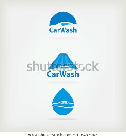 autó · mosás · kéz · ruha · gyantázás · fehér - stock fotó © vwalakte