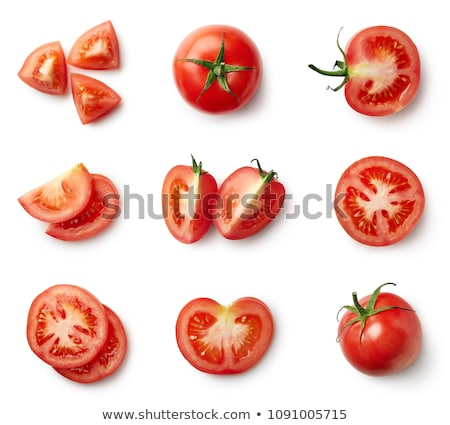 mains · tomate · forte · couteau · table - photo stock © simply