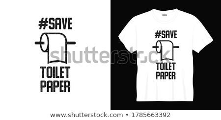 Retro tuvalet örnek tuvalet kağıdı fırçalamak ev Stok fotoğraf © biv