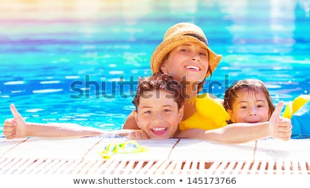 cute boy in a park on beach stock photo © zurijeta