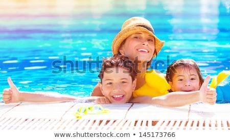 jumping · lago · acqua · felice · fitness - foto d'archivio © zurijeta