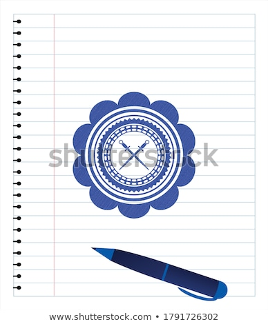 Stock photo: Crossed saber sketch icon.