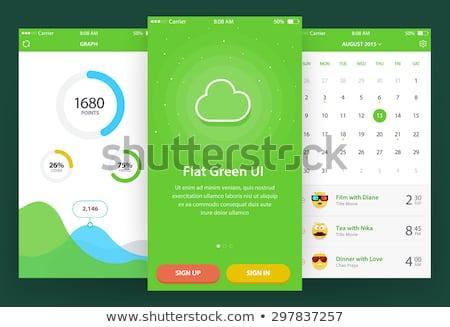 Zöld kör anyag design sablon stock vektor Stock fotó © punsayaporn