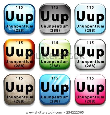 A periodic table button showing Ununpentium Stock photo © bluering