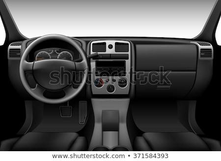 dashboard · auto · verlicht · nacht · beweging · kijken - stockfoto © ssuaphoto