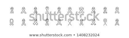 AIDS szalag vonal ikon vektor izolált Stock fotó © RAStudio
