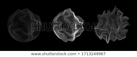 absztrakt · gömb · háló · vektor · terv · illusztráció - stock fotó © sarts