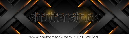 abstract tech black glossy stripes background stock photo © saicle
