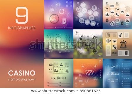 abstrato · jogos · de · azar · pôquer · illustrator · eps8 - foto stock © day908