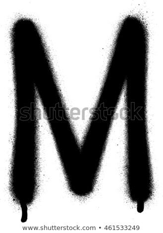 Carattere graffiti bianco nero iscritto lettera Foto d'archivio © Melvin07