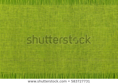 Verde tavola runner cotone tessuto panno Foto d'archivio © Digifoodstock