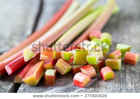 frescos · ruibarbo · crudo · grupo · vegetales · fondo · blanco - foto stock © digifoodstock