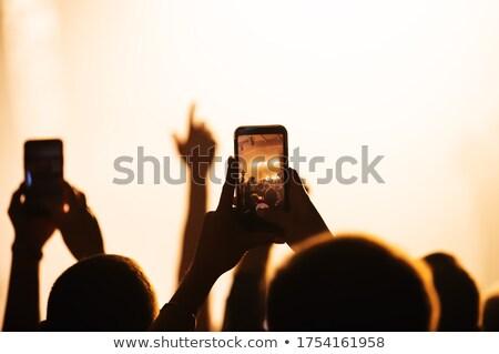 Photo stock: Fans · chanteur · discothèque · festival · de · musique