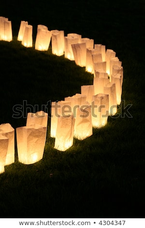 Torby papierowe lampy biały kółko świetle tle Zdjęcia stock © devon