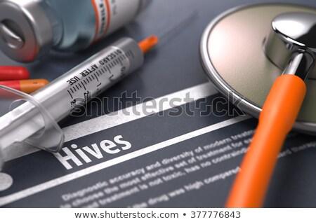 онкология · серый · медицинской · расплывчатый · текста · таблетки - Сток-фото © tashatuvango