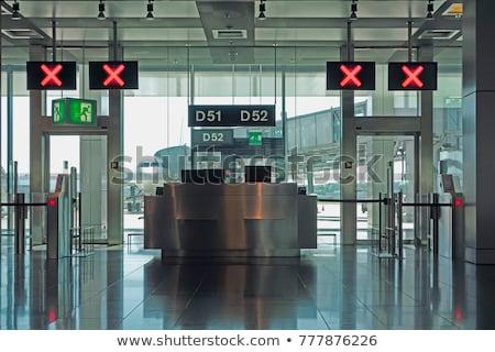 Kapalı havaalanı kontrol Bina imzalamak büro Stok fotoğraf © smartin69