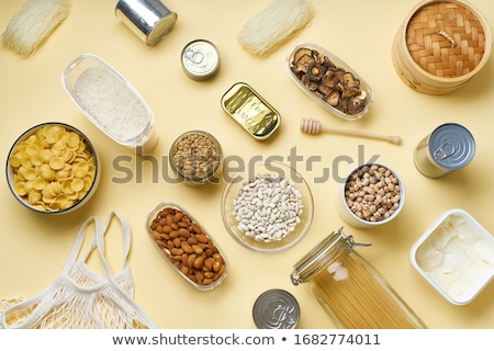 Chickpeas in glass dish Stock photo © fotogal