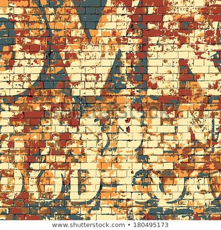 Old brick wall with peeling paint vector illustration Stock photo © studiostoks
