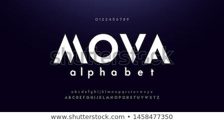 Musical alfabet abstract vector piano ingesteld Stockfoto © Olena